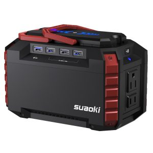 Suaoki Portable Power Station 150Wh Quiet Gas Free Solar Generator The best 110 volt portable gas free solar generator of 2018
