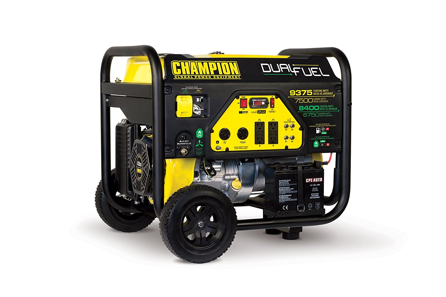 Champion generator Dual Fuel 7500 W review
